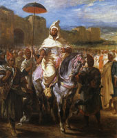 Eugène Delacroix - Abd er Rahman, the Sultan of Morocco Reviewing His Guard
