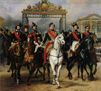 Horace Vernet Louis-Philippe and His Sons Riding Out from the Château de Versailles