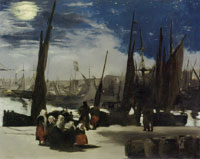 Edouard Manet Moonlight at the Port of Boulogne