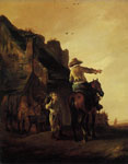 Philips Wouwerman A Rider Conversing with a Peasant