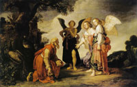 Pieter Lastman Abraham and the Three Angel
