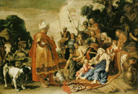 Pieter Lastman Laban Searching for His Idols