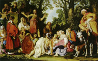 Pieter Lastman The Preaching of St. John the Baptist