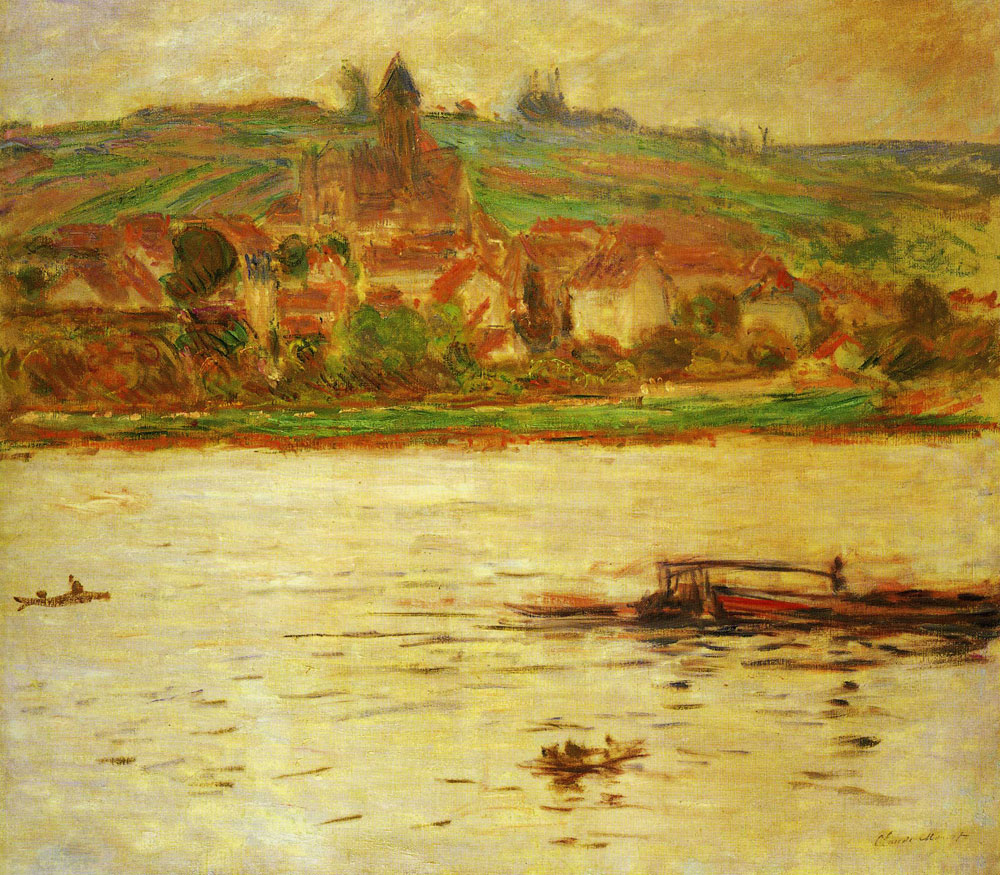 Claude Monet - Barge on the Seine at Vétheuil