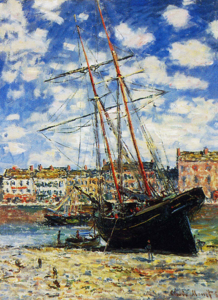 Claude Monet - Boat Lying at Low Tide