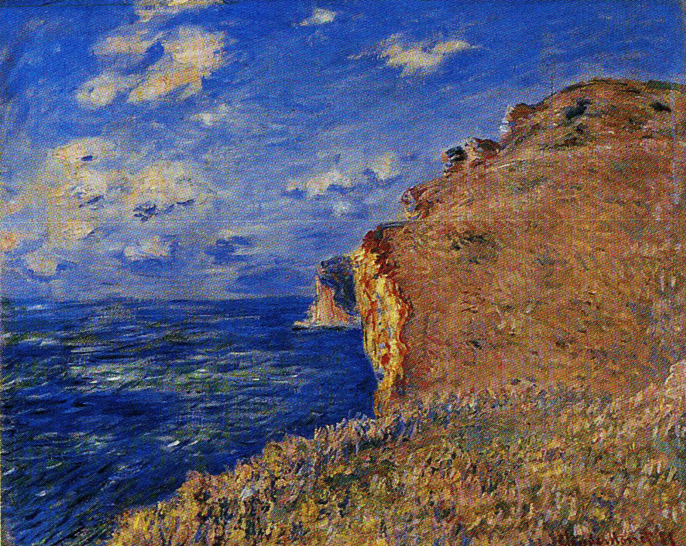 Claude Monet - The Cliff at Fécamp