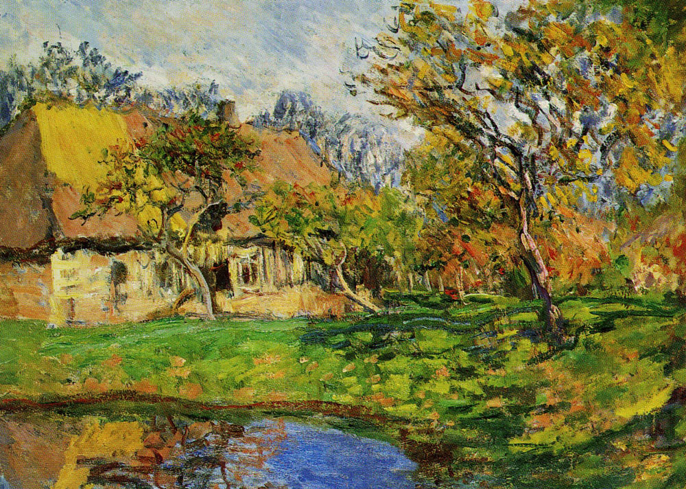 Claude Monet - A Cottage in Normandy