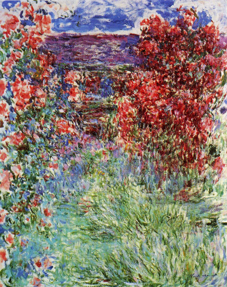Claude Monet - The House among Roses