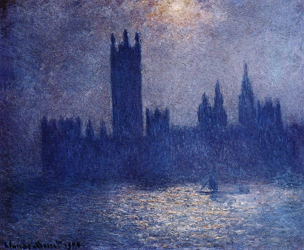Claude Monet - Houses of Parliament, Effect of Sun in the Fog