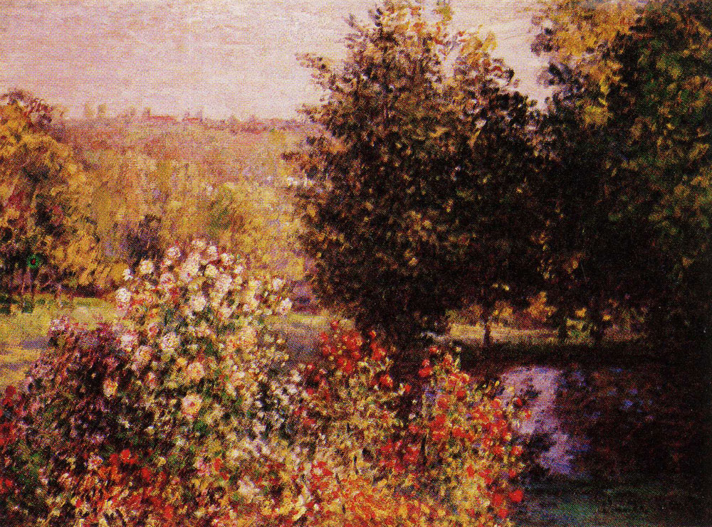 Claude Monet - The Rose Bushes in the Garden at Montgeron
