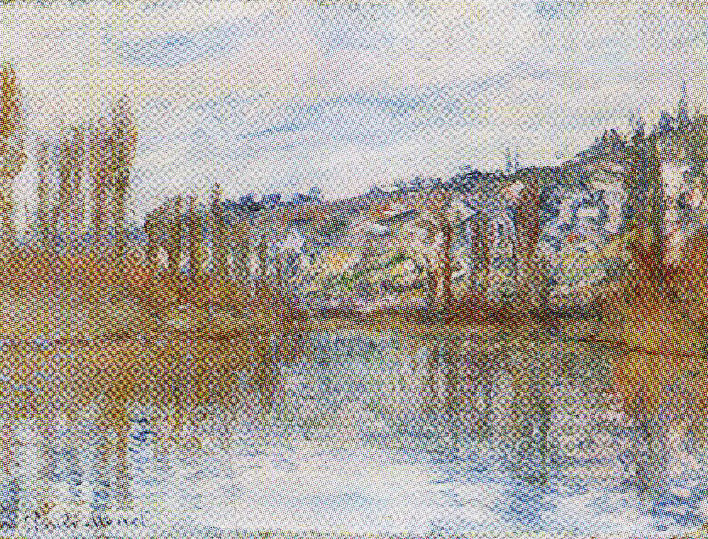 Claude Monet - The Seine Downstream from Vétheuil
