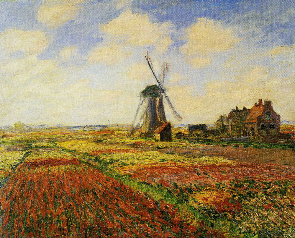 Claude Monet - A Field of Tulips in Holland