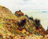Claude Monet The Fisherman's House, Overcast Weather