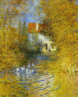 Claude Monet - Geese in the Brook