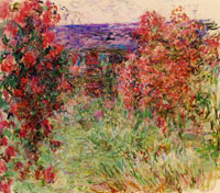Claude Monet The House among Roses