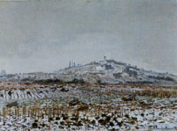 Claude Monet The Orgemont Windmill under the Snow