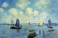 Claude Monet - Seascape, Amsterdam