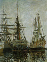 Claude Monet Ships under Repair
