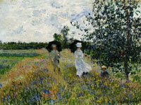 Claude Monet - Taking a Walk near Argenteuil