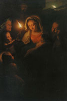 Godfried Schalcken - The Holy Family with John the Baptist and Elisabeth