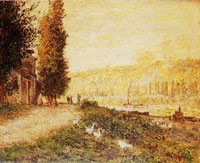 Claude Monet - Banks of the Seine at Lavacourt