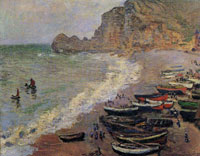 Claude Monet Beach at Etretat
