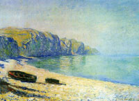 Claude Monet Boats on the Beach at Pourville, Low Tide
