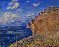 Claude Monet The Cliff at Fécamp