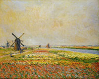 Claude Monet Field of Flowers and Windmills near Leiden