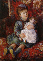 Claude Monet - Germaine Hoschedé with her Doll