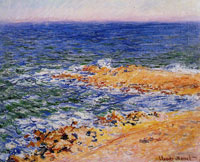 Claude Monet The Sea at Antibes