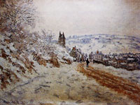 Claude Monet The Road Coming into Vétheuil, Snow Effect