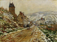 Claude Monet The Road in Vétheuil in Winter