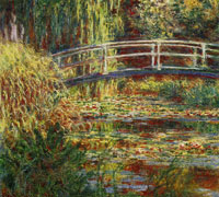 Claude Monet Water-Lily Pond, Symphony in Rose