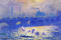 Claude Monet Waterloo Bridge, Sunlight Effect