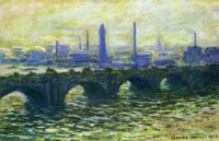 Claude Monet Waterloo Bridge, Misty Morning