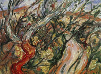 Chaim Soutine - Landscape with Trees
