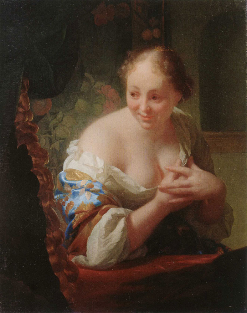 Godfried Schalcken - Young Woman in Front of a Mirror