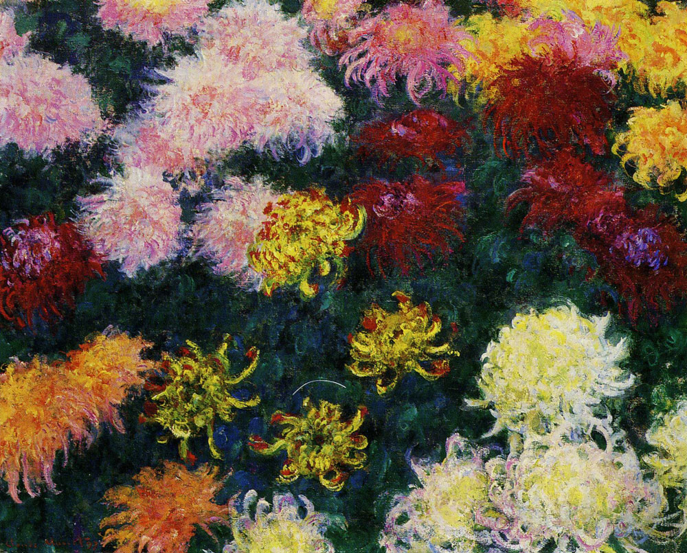 Claude Monet - Bed of Chrysanthemums