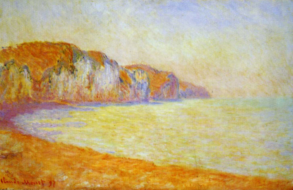 Claude Monet - A Cliff at Pourville in the Morning