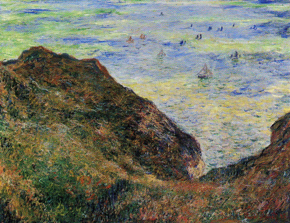 Claude Monet - On the Cliff at Pourville