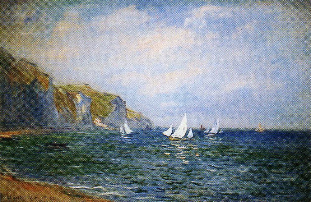 Claude Monet - Cliffs and Sailing Boats at Pourville