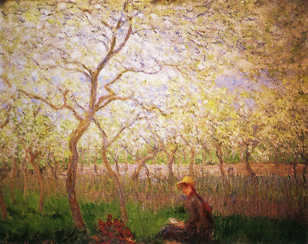 Claude Monet - An Orchard in Springtime