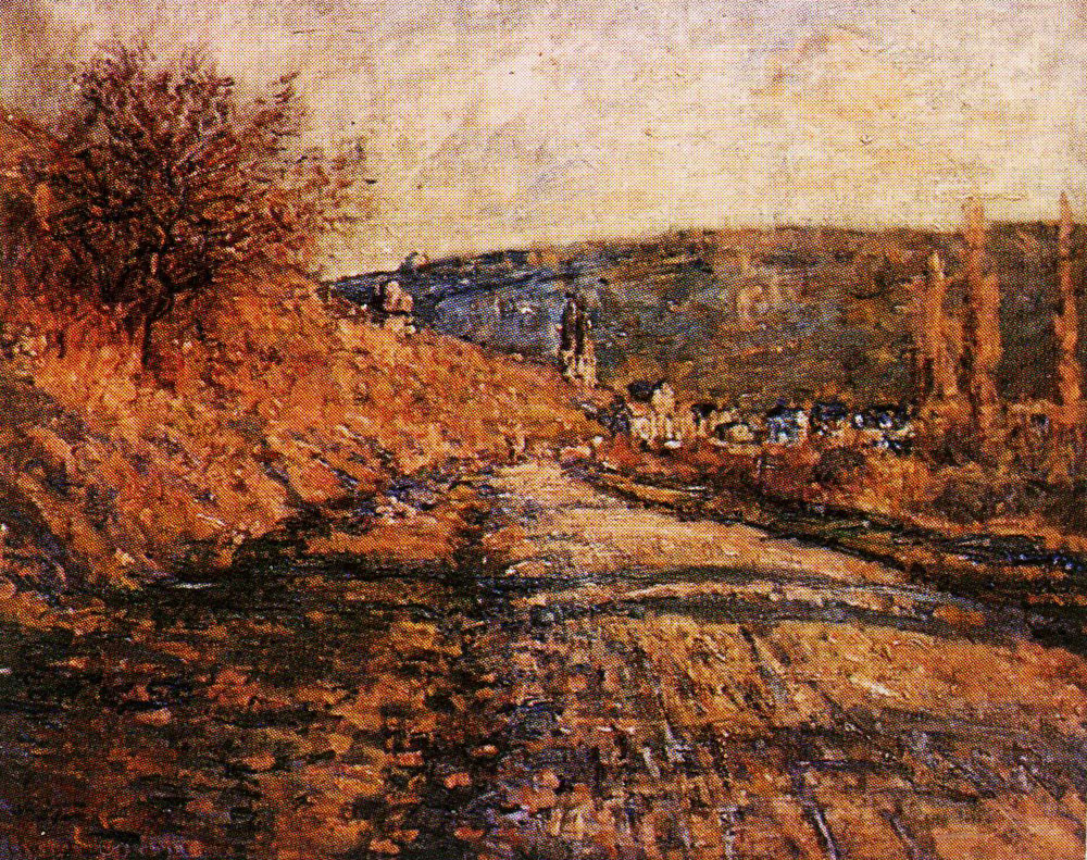 Claude Monet - The Road to Vétheuil