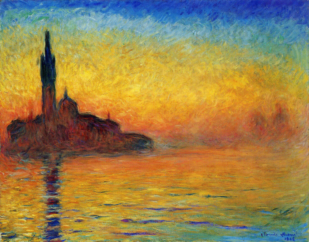 Claude Monet - Venice at Dusk