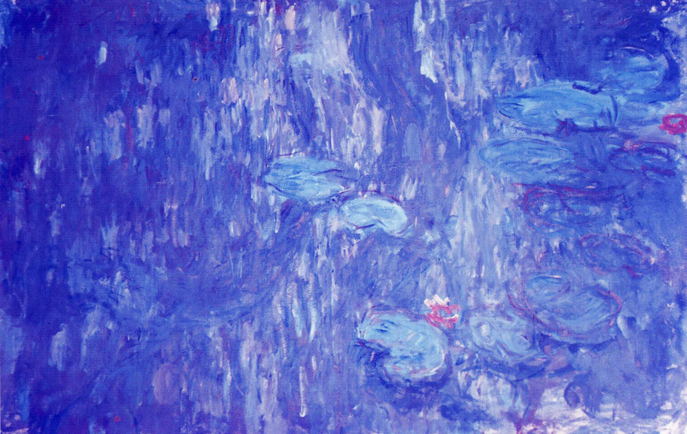 Claude Monet - Water-Lilies, Reflections of Weeping Willows