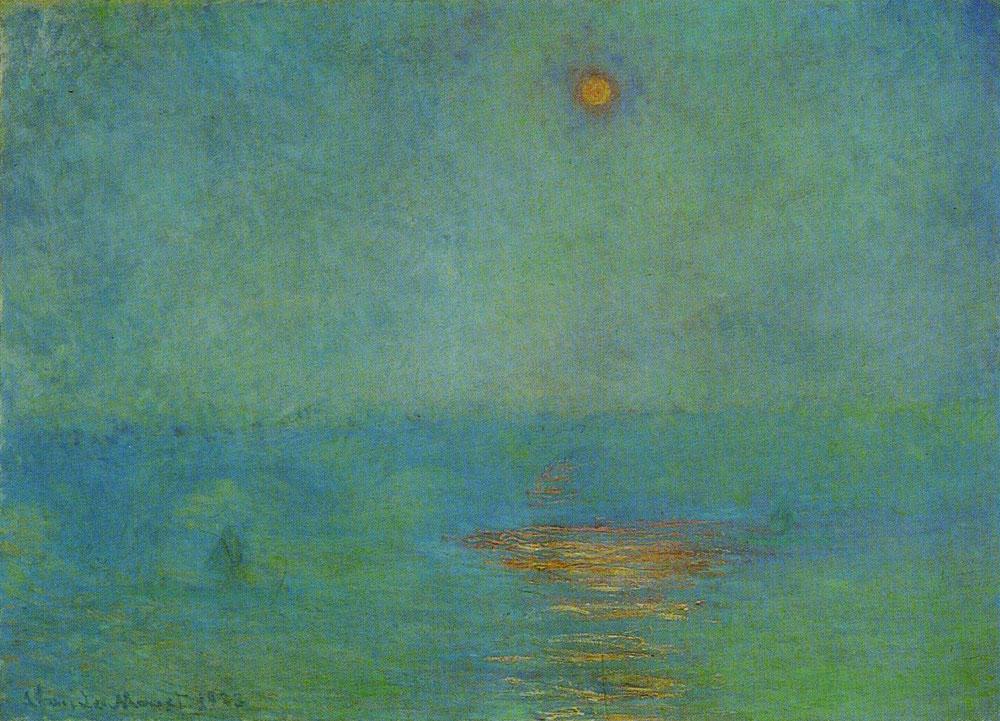 Claude Monet - Waterloo Bridge, Effect of Sunlight in the Fog