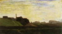 Claude Monet Landscape with Factories