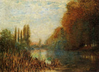 Claude Monet Banks of the Seine in Autumn