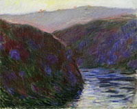 Claude Monet Valley of the Creuse, Evening Effect